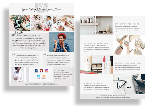 How and why bloggers should create a media kit free canva template free media kit template with canva maxwellsz
