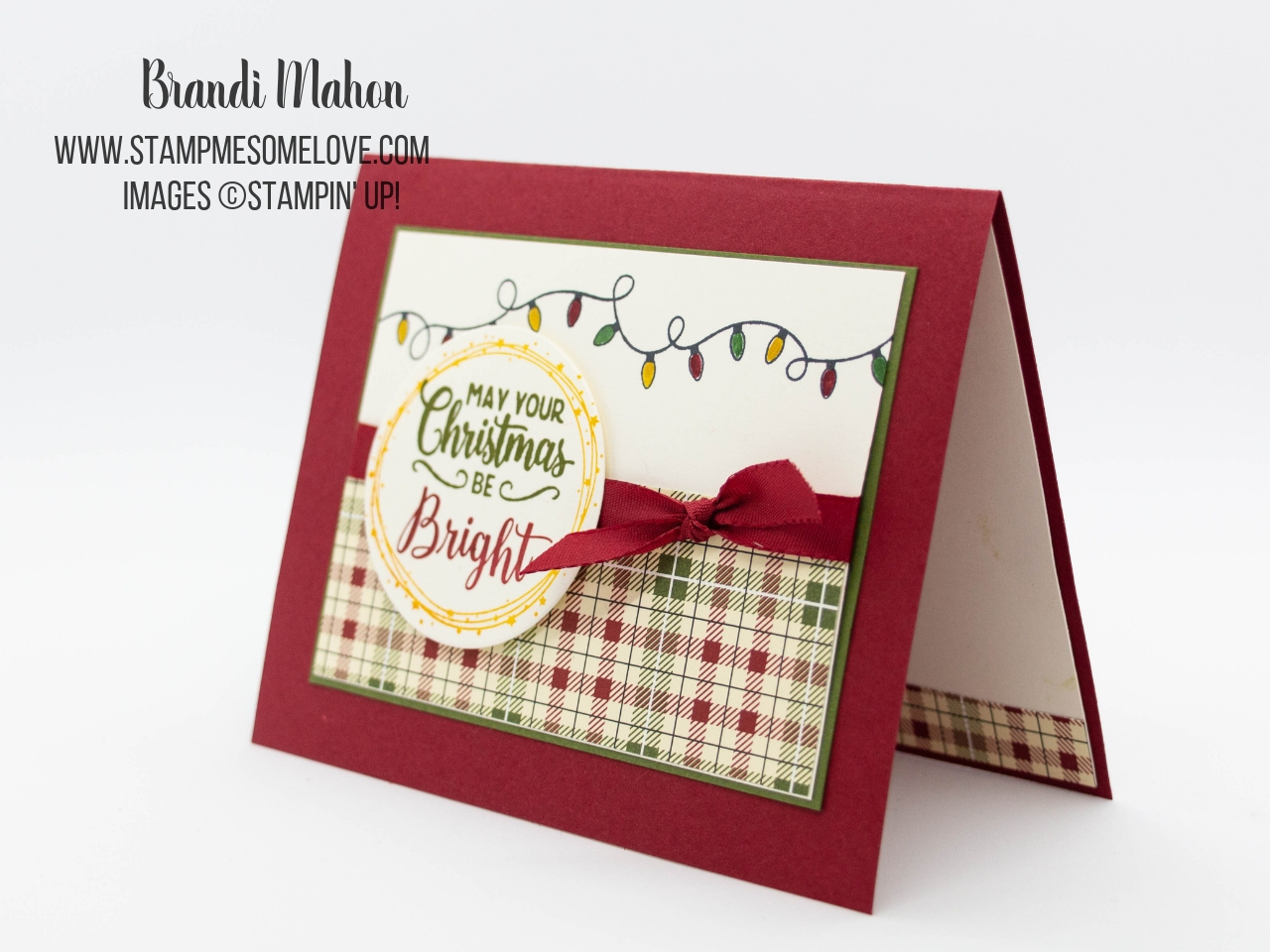 Making Christmas Bright Christmas Card Project - Stamp Me Some Love